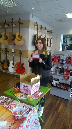 Natalie drawing our 2 Daisy Rock guitar strap winners. Well done guys :)