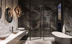 Galeria łazienek - zdjęcia, gotowe projekty - Domni.pl Bathtub, Bathroom, Design, Wooden Staircases, Standing Bath, Washroom, Bathtubs, Bath Tube, Full Bath