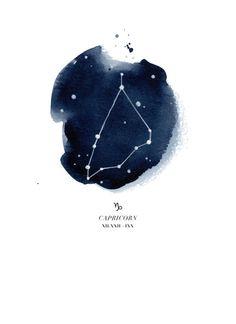 Zodiac Constellation - Capricorn Art Print