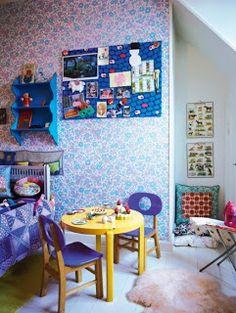 Keltainen talo rannalla: Lastenhuoneita ja muuta