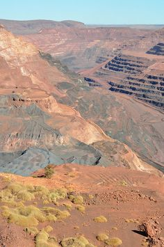 BHP Billiton Mt Whaleback Mine, Newman WA, Australia Western Australia, Perth, Great Places, Grand Canyon, Trips, Moon, Mountains, Landscape, Travel