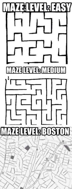 Can find my way through Boston, but can never figure how to get home in Mansfield....