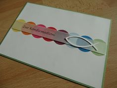 Jennyu0027s Papierwelt: ~ Karten Zur Konfirmation / Kommunion ~ Mehr. Taufe  KarteEinladung BastelnKarten ...