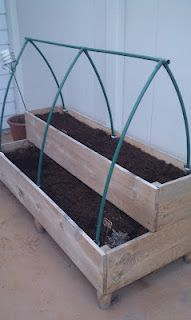 Tiered raised bed with an elegant cold frame, to be covered with greenhouse plastic