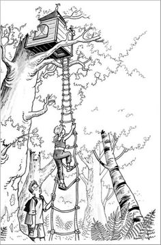 Magic tree house bookmarks freebie for Jack and annie coloring pages