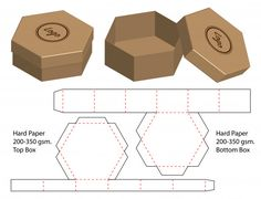 Cut box packaging design packaging template box die cut template box packaging box template cut Vectors, Photos and PSD files Box Packaging Templates, Packaging Design, Gift Box Templates, Gift Box Packaging, Print Templates, Diy Paper, Paper Crafts, Cardboard Crafts, Paper Box Template