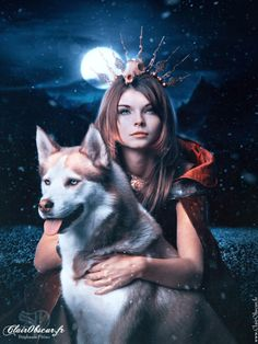 Snow Queen by on DeviantArt Wolf Images, Wolf Pictures, Gothic Fantasy Art, Fantasy Women, Lobos Gif, Wolves And Women, Wolf Spirit Animal, Wolf Love, Anime Wolf