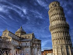 https://flic.kr/p/7h2wVK | Leaning Tower of Pisa - again | Another HDR of the Leaning tower of Pisa, and the Duomo ( Cathedral) next door. This one I actually used a TRIPOD! I know, weird for me! but I had been using my 1000mm lens to take some shots of the details, so I chucked on the wide lens for an HDR. The cloud was great this day, and the Sun was very bright. View On Black  View my stream LARGE on  DARKR   it is worth it.   See where this picture was taken. [?]