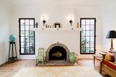 Stucco Fireplace, Fireplace Remodel, Fireplace Surrounds, Fireplace Design, Fireplaces, Fireplace Ideas, Hacienda Style Homes, Spanish Style Homes, Spanish House