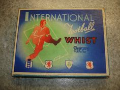 1940s Pepys International Football Whist Card Game. Box, Board & Instructions