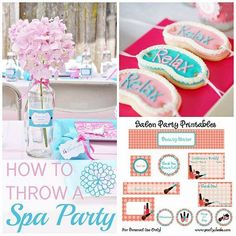 Kids spa party on pinterest kids spa spa party for B day decoration at home