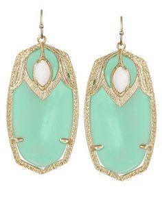Darby Earrings in Chalcedony - Kendra Scott Jewelry
