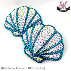Handmade Sea Shell Rhinestone nipple pasties by SugarKitty Couture! Each pastie is lovingly crafted over a sturdy, reusable base that is cut and molded to your size. Theyre completely encrusted with rhinestones in your choice of color with a contrasting outline! Because there is no fabric on the back to pill or fray, these pasties can be used again & again! Add UltraTwirl or Removable Tassels for extra pizzazz! {O R D E R I N G I N S T R U C T I O N S}:  Select SIZE from dropdown menu. In...