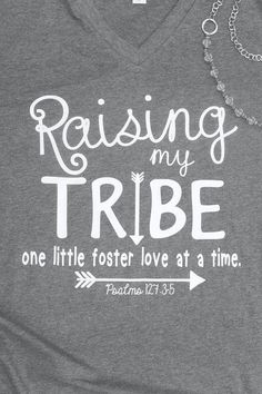 Raising My Tribe - Foster Shirt- Foster Parent Shirt - Foster Mom Shirt - Foster Care - Gotcha Day - Adoption - Mom of Many -gift for Mom - #FosterParenting