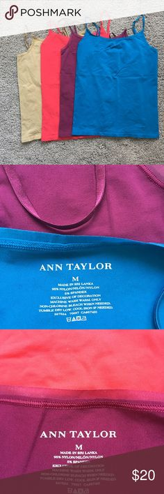 Ann Taylor Camisole  Bundle (4) 4 camisoles, excellent used condition. 3 x medium, and 1 x large. Ann Taylor Tops Camisoles
