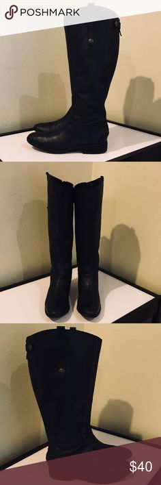 Auth Sam Edelman black leather riding boots 10 Authentic Sam Edelman black leather riding boots 10 Euro 40 good condition have been loved have creasing in leather and light scuffs Sam Edelman Shoes Heeled Boots