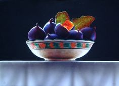 By Ottorino De Lucchi Vivid Colors, Colours, Still Life Fruit, Dry Brushing, Fruits And Veggies, Decorative Bowls, Watercolor, Contemporary, Painting