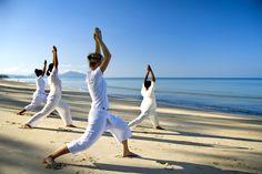 Seaside Yoga, Anantara Phuket Villas, Mai Khao Beach, Phuket, Thailand.