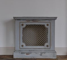 radiator covers   SalvoWEB : Pair vintage steel and brass radiator covers / consoles