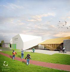 Projekt konkursowy centrum kultury w Brześciu Kujawskim