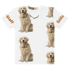 Golden Retriever ° All-Over BigPrint Tee Beautiful Dog Breeds, Beautiful Dogs, Dogs Golden Retriever, Labrador Retriever, Dog Products, Dog Wear, Dog Mom, Yorkie, Mom And Dad
