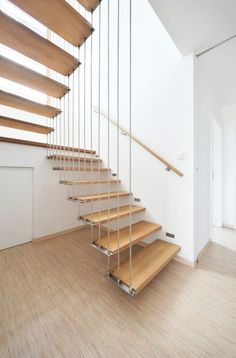 Floating Staircase @ the House on the Outskirts of Prague by Martin Cenek