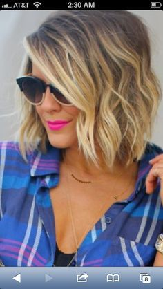 Inverted bob!!!! on Pinterest | Long Inverted Bob, Long Bobs and Wavy…