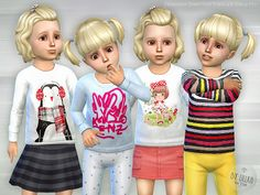 Sims 4 CC's - The Best: Designer Shirt for Toddler Girls P01 by Lillka