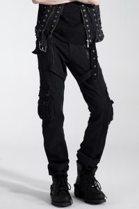 Gothic Hose mit Nieten, Zippern & Taschen