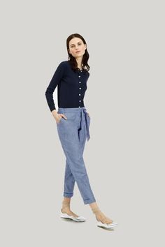 Carly chambray trousers