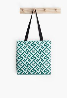 Geometric Pinwheel in Pantone Quetzal Green  Tote Bag by ilexdesigns 7bdfb819c8a1e
