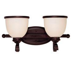Shandy 2-Light English Bronze Vanity Light 20194290