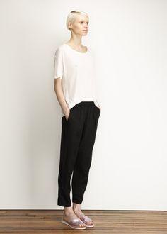 Raquel Allegra Linen Easy Pants (Black)