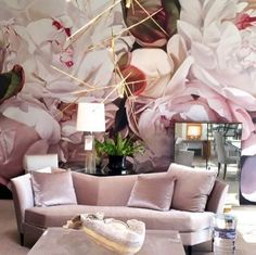 """Peonies White"" Thomas Darnell installed in Texas showroom Allan Knight"