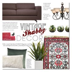 """Vintage shabby decor by SFRugs"" by sfrugs ❤ liked on Polyvore featuring interior, interiors, interior design, home, home decor, interior decorating, Alöe, Pottery Barn and vintage"