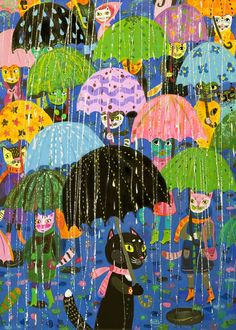 Сообщество иллюстраторов / Иллюстрации / Потякина Елена / черный зонт