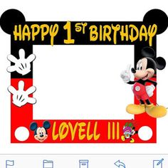 Foto dell'acquirente Ashanti Walker che ha recensito questo articolo con la Etsy app for iPhone. Mickey Mouse Frame, Mickey Mouse Classroom, Mickey Mouse Birthday Decorations, Theme Mickey, Mickey 1st Birthdays, Mickey Mouse Baby Shower, Mickey Mouse Clubhouse Birthday Party, Baby Boy 1st Birthday Party, Mickey Mouse Parties