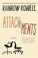 "Taken from the Good Reads website,this shows the front cover for Raiinbow Rowell's novel Attachments.  I like the handdrawn quality of the type. In particular, I love how the split of the word ""Attachments"" into two words that are precariously held together by a paper clip suggests that the attachments the book describes are quite fragile. #bookcoverdesign"