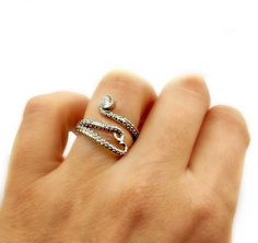 octopus silver ring, zircon ring, tentacle ring, silver adjustable ring, octopus ring with gemstone Chunky Silver Rings, Mens Silver Rings, Mens Band Rings, Wide Band Rings, Octopus Ring, Natural Sapphire, Designer Engagement Rings, Ring Designs, Nail Designs