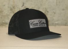 dee8cff5b9e2e Trucker Hat- Richardson - Solid Black - Grey Patch