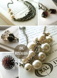 DIY jewelry inspiration. Oh the lovely things: Lovely Sponsor : Oh Nostalgia