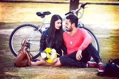 #nancyavon from www.bit.ly/jomfacial Sharing a light moment with your love dear! Amazing Pre-wedding Photography by VipulSharma1