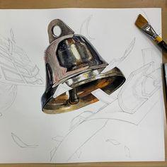 A Level Art, Color Pencil Art, Colorful Drawings, Painting Tips, Art Sketchbook, Decorative Bells, Pencil Drawings, Colored Pencils, Art Inspo