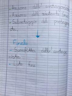Quaderno di italiano classe 2^ La fiaba Periodic Table, Math Equations, Education, Words, School, 3, Blog, Lab
