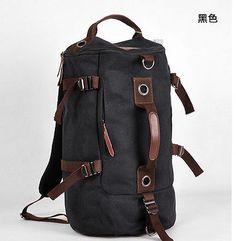 Men's Stylish Canvas Backpack Rucksack School Bag Messenger Hiking Shoulder Bag | eBay