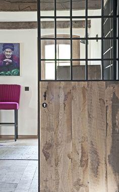 Big Doors, Small Doors, Windows And Doors, Modern Door, Stair Railing, Industrial Interiors, Love Home, Exterior Doors, Interior Design Living Room