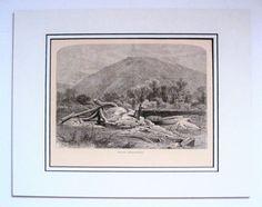 Original 1872  Engraving Mount Chesterfield near Brattleboro VT Vermont #Realism