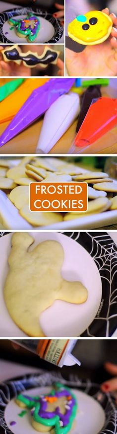 Frosted Cookies | 19 DIY Halloween Party Ideas for Teens that are totally spooktacular!