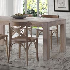 FREE SHIPPING Give your dining room a rustic modern farmhouse look with the warmth of this Solid Wood Dining Table. This versatile and neutral design goes well with several chair types, features robus https://emfurn.com/