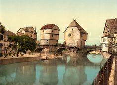 Bridge houses, Kreuznach, Rhineland, Germany, ca. 1895